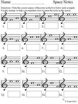 Treble Clef Note Reading Bundle - Music Assessment Treble Clef Lines/Spaces