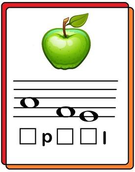 Note Reading  Deutsch Notenrätsel - Früchte: Notennamen