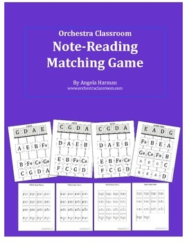 Note-Reading Matching Game for Orchestra