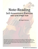 Note Reading Self-Assessment Exercise for Orchestra