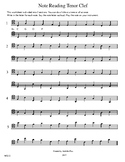 Note Reading Tenor Clef WS13