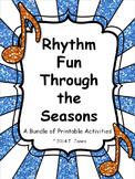 Music Worksheets: Rhythm Fun Seasonal Bundle {Assessments