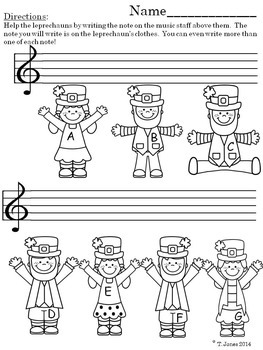 Music Worksheets:Note Reading Through the Seasons{Music Assessment Lines/Spaces}