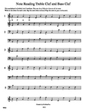 Note Reading Treble Clef and Bass Clef WS5
