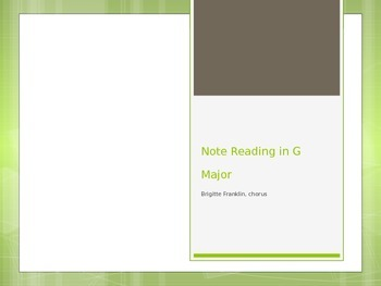 Note Reading in G Major (solfege/staff) for Choir