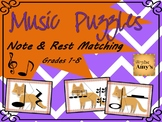 Note and Rest Matching Puzzle