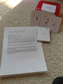 Note & Rest Value WAR (Card Game)