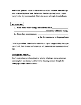 Note Sheet on Light (spectrum wavelength frequency Bohr model notes)