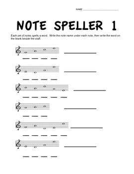 Note Speller 1