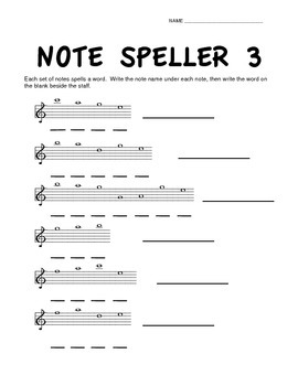 Note Speller 3