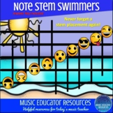 Music Note Stems Worksheet and Posters