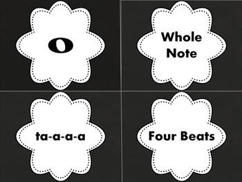 Note Symbols, Names, Syllables, and Values- Printables or Manipulatives