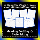 Note-Taking Bundle: Cornell, 3-2-1, Venn Diagram & Outline Organizers {EDITABLE}