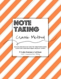 Note Taking - CLASSIC METHOD - Lesson Plan & Activities