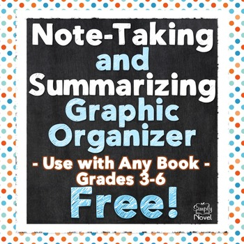 FREE Note-Taking Chart and Graphic Organizer for Any Book,