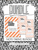 Note Taking BUNDLE (Cornell, Key Word, Classic & Topical Methods)