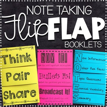 Note Taking Foldables - 24 No Prep Booklets
