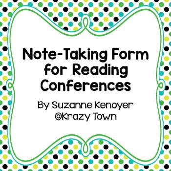 Readers Workshop Conference Form
