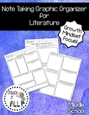 Note Taking Graphic Organizer ELA and Growth Mindset