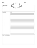 Note Taking Graphic Organizer- For ANY Lesson