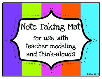 Note Taking Mat