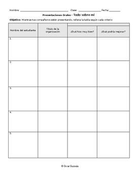 Note Taking Oral Presentation | Tomar Notas Durante Presentaciones Orales
