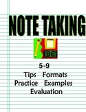 Notetaking How-To Program 6-9: Strategies, Multiple Formats, Models, Practice