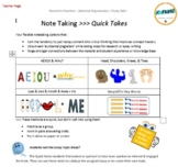 Note Taking: QUICK TAKES!
