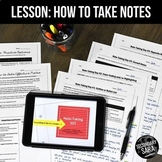 Note-Taking Skills Lessons & Templates: Teach with ANY Uni