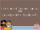 Note Taking Skills PowerPoint
