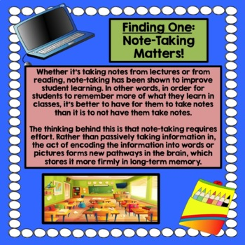 Note-Taking Strategy Training for Middle and High School Students