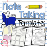 Note Taking Templates Elementary