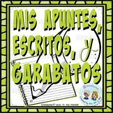 Note Taking, Writing & Doodling Choices in Spanish - Print or Distance Learning