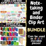 Note-Taking and Binder Clip Art / Digital Movable Pieces