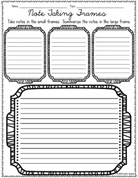 note taking templates and research organizers set 2