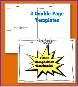 Note Templates for Interactive Notebooks- Flower Pack DOLLAR DEAL!