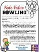 Note Value Bowling Scoring Sheet -FREEBIE