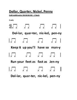 Note Value Drum Rhymes