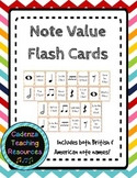 Music Flash Cards - Note Value/Rhythm