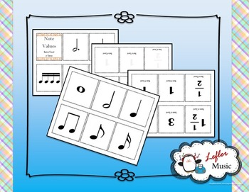 Note Value Flash Cards (Beats of Sound and Silence)