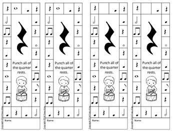 Note Value Punch Cards