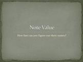 Note Value Quiz Powerpoint