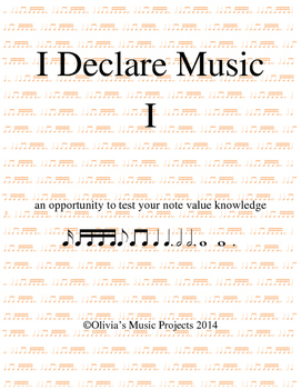 Note Values: I Declare Music I