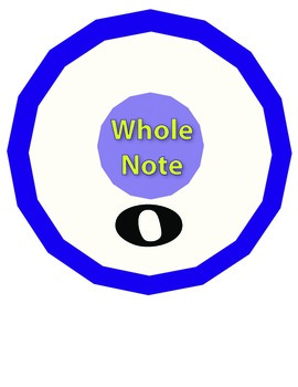 Note Values Musical Math Printables