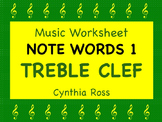 Note Words 1 for Treble Clef