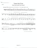 Note Words-D Major Scale-Cello/Bass