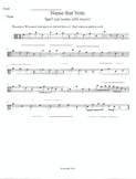 Note Words-D Major Scale-Viola