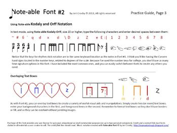 Note-able Font Package - Essential Music Teacher & Self-Publisher Tool - PC/Mac