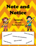 Note and Notice Signposts Close Reading