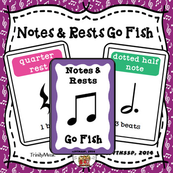 Note and Rest Go Fish Game